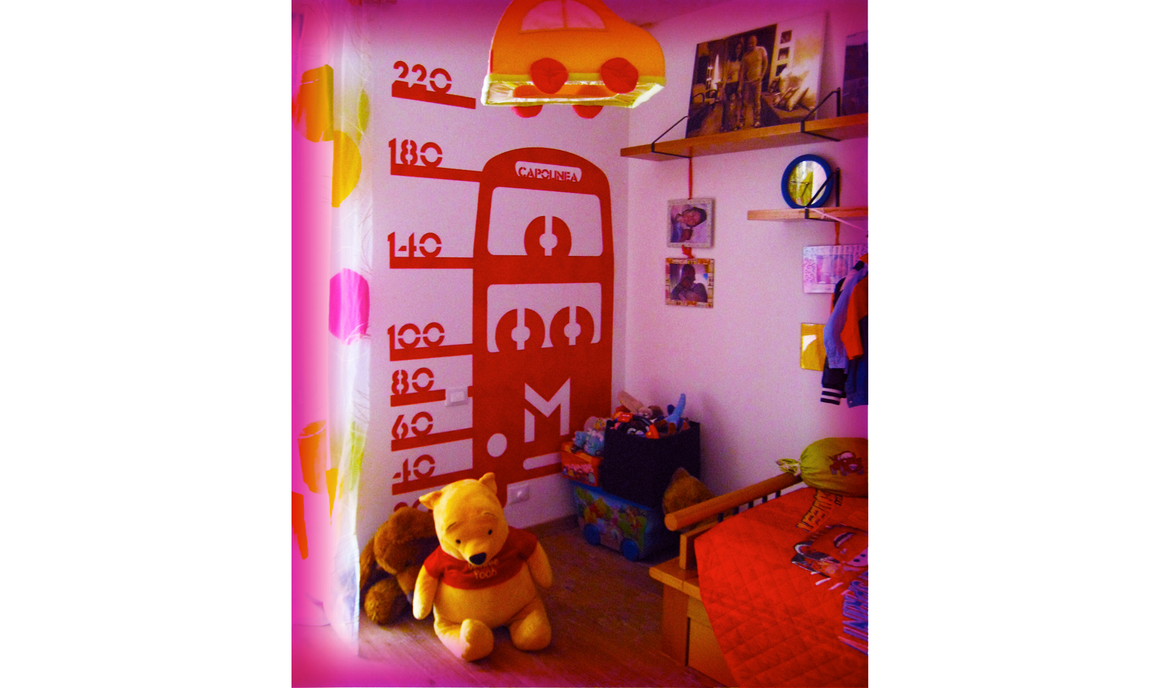 Decoration of a baby-boy room